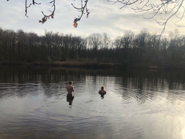 dip in koud water